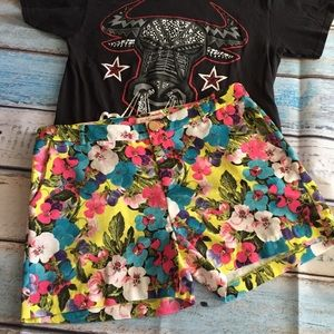 Gibson Latimer Floral Shorts Size 12